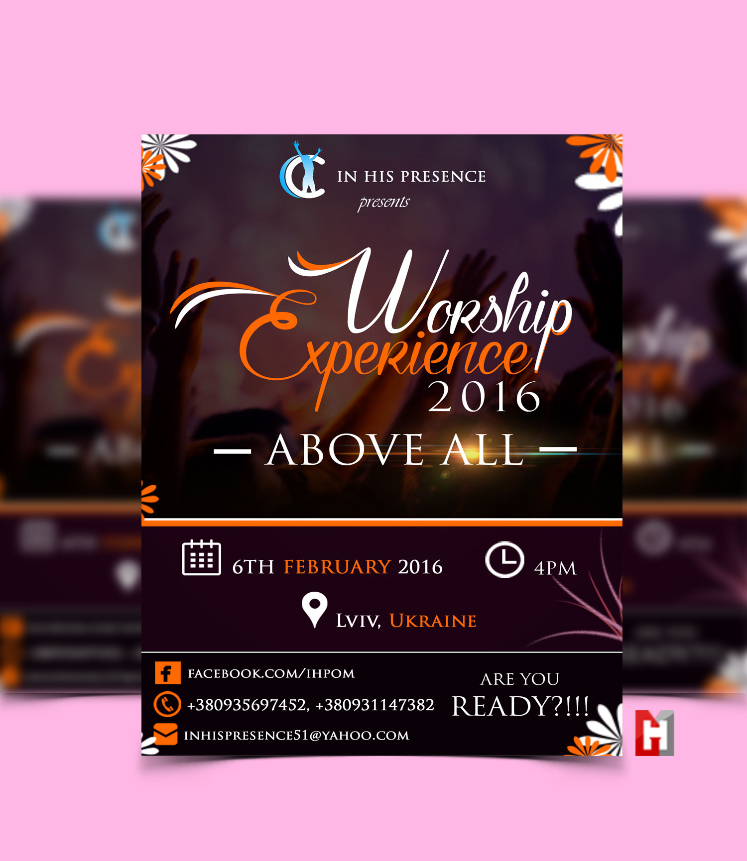 IN HIS PRESENCE – WORSHIP EXPERIENCE FLYER DESIGN